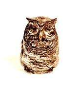 Small Silver Metal Owl