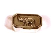 Silver Elephant Pill Box
