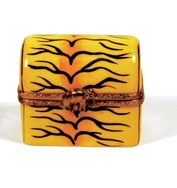 Limoges Tiger Skin Pill Box