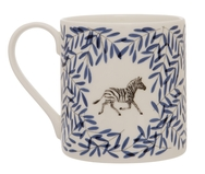 Pair of Safari Mugs with Elephant and Zebra
