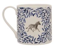Pair of Safari Mugs with Elephant and Zebra