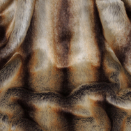 Faux Fur Brown Chinchilla Throw