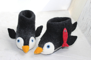 Pete the Penguin Slippers