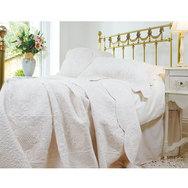 Cream or White Quilt Bedspread