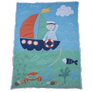 Sailor Patchwork Cot Quilt