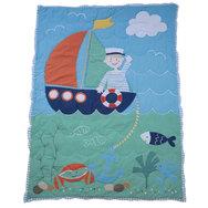 Sailor Patchwork Cot Quilt