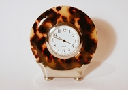 Faux Tortoise Shell Clock