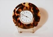 Faux Tortoise Shell Clock