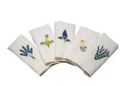 Linen Guest Hand Towels - Set of 5