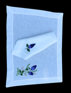 Linen Napkin & Table Mat with Lilac
