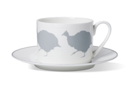 Guinea Fowl Coffee Cup & Saucer
