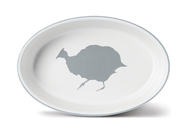 Guinea Fowl Medium Oval Ovenware Dish