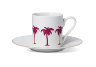 Palm Tree Coffee Cup & Saucer